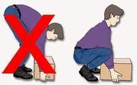 Как правильно поднимать груз