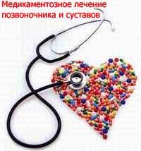 Медикаментозное лечение позвоночника и суставов Киев